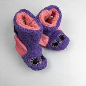 Cat & Jack slippers pink purple size m 2-3
